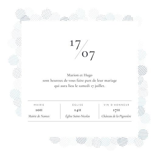Faire-part de mariage Sequins bleu - Page 3
