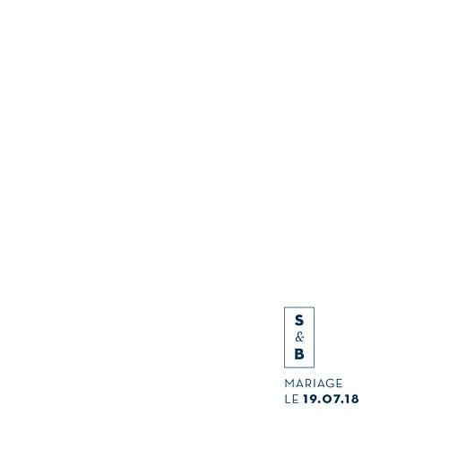 Faire-part de mariage Laure de sagazan carré (dorure) bleu marine
