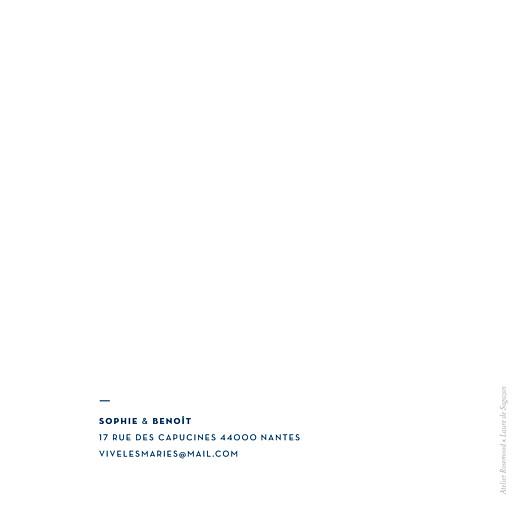 Faire-part de mariage Laure de sagazan carré (dorure) bleu marine - Page 4
