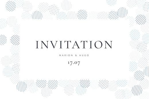 Carton d'invitation mariage Sequins bleu