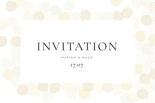 Carton d'invitation mariage Sequins jaune