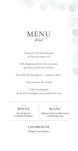 Menu de mariage Sequins (4 pages) bleu - Page 3