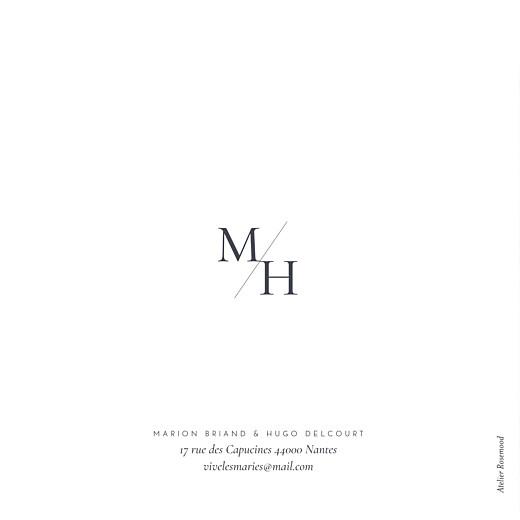 Carte de remerciement mariage Sequins (4 pages) bleu - Page 4