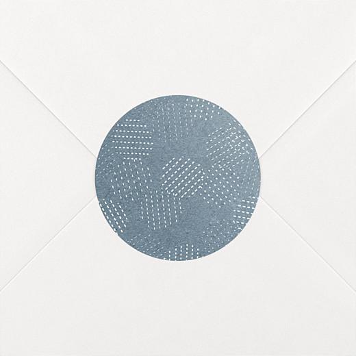 Stickers pour enveloppes mariage Sequins bleu - Vue 2