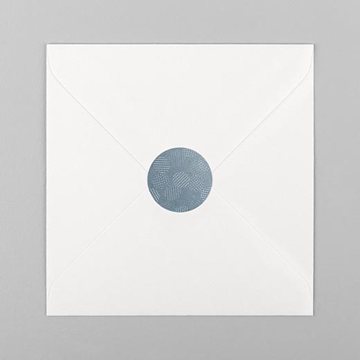 Stickers pour enveloppes mariage Sequins bleu - Vue 1