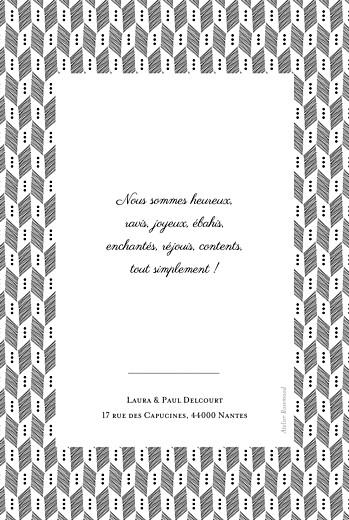 Faire-part de naissance Chevrons noir - Page 2