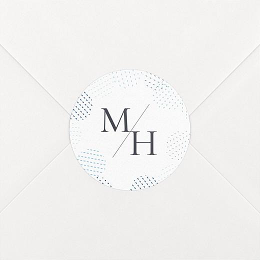 Stickers mariage Sequins bleu - Vue 2