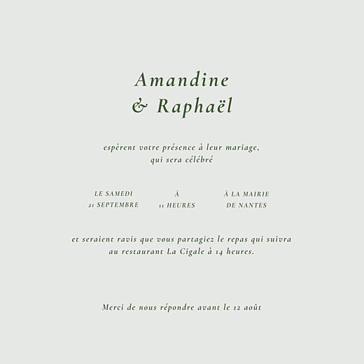 Faire-part de mariage Joli sous-bois 4 pages (dorure) vert - Page 3