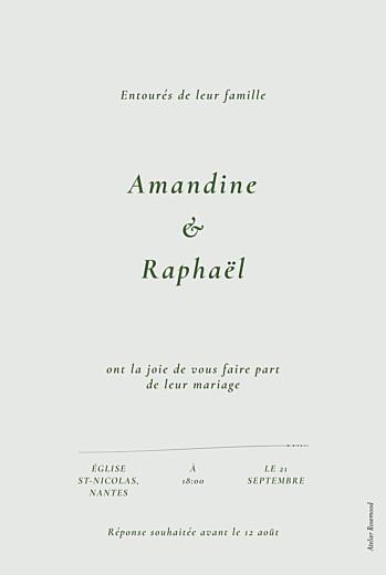 Faire-part de mariage Joli sous-bois (dorure) vert - Page 2
