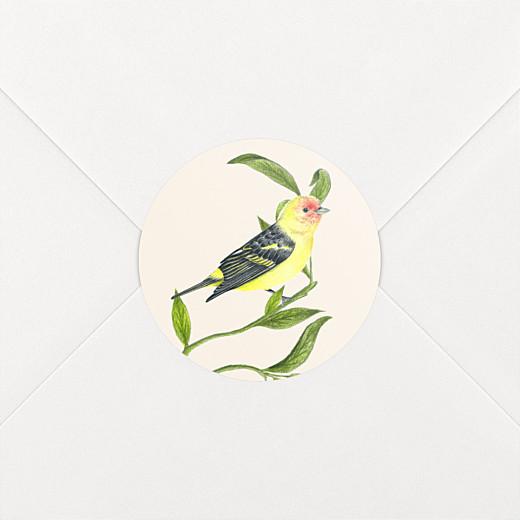 Stickers pour enveloppes baptême Mélopée blanc - Vue 2