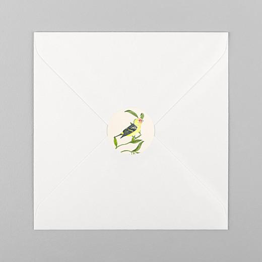 Stickers pour enveloppes baptême Mélopée blanc - Vue 1