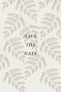Save the date rouge joli sous-bois beige