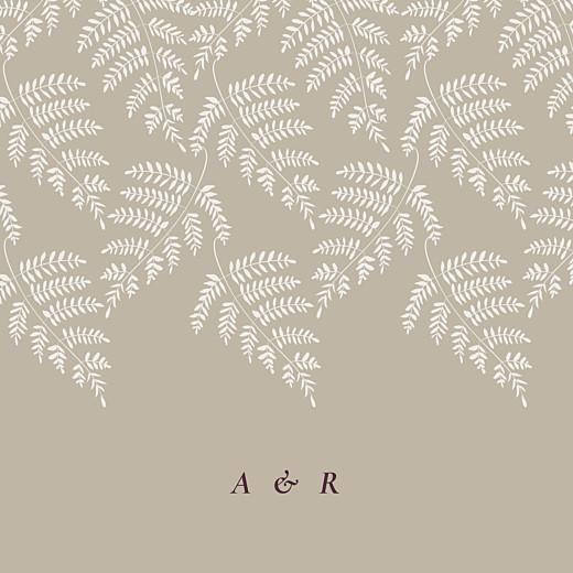 Faire-part de mariage Joli sous-bois (4 pages) beige