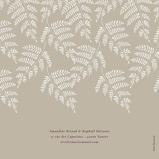 Faire-part de mariage Joli sous-bois (4 pages) beige - Page 4