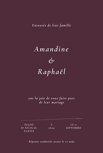 Faire-part de mariage Joli sous-bois beige - Page 2