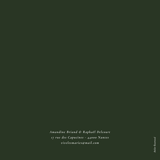 Faire-part de mariage Joli sous-bois 4 pages (dorure) vert - Page 4