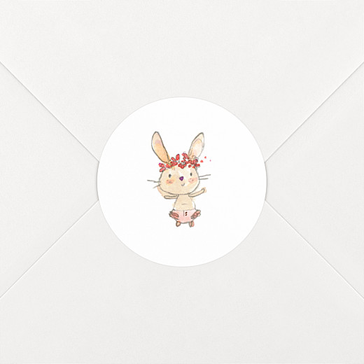 Stickers Naissance Petits lapins rose - Vue 2