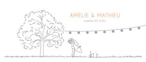 Faire-part de mariage Promesse champêtre blanc