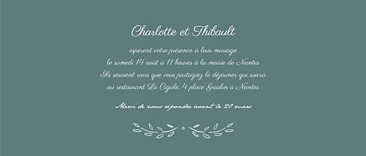 Faire-part de mariage Poème (panoramique) vert - Page 3