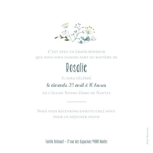 Faire-part de baptême Bouquet sauvage bleu - Page 2