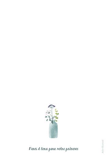Menu de baptême Bouquet sauvage bleu - Page 4