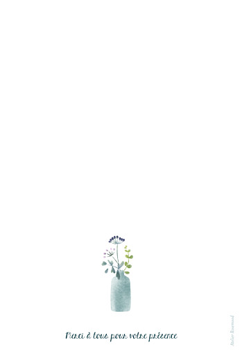 Menu de baptême Bouquet sauvage violet - Page 4
