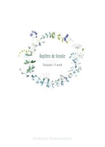 Livret de messe Bouquet sauvage bleu