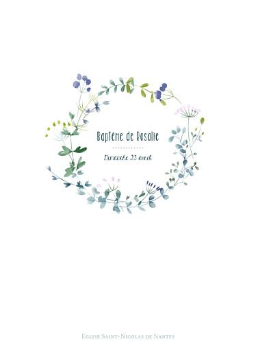 Livret de messe Bouquet sauvage violet