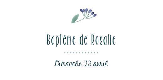 Marque-place Baptême Bouquet sauvage violet - Page 4