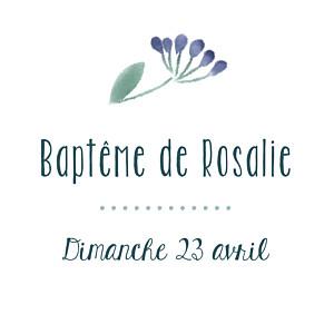étiquette De Baptême Personnalisée Rosemood