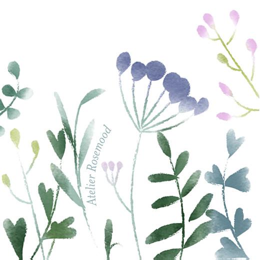 Etiquette de baptême Bouquet sauvage violet - Page 2