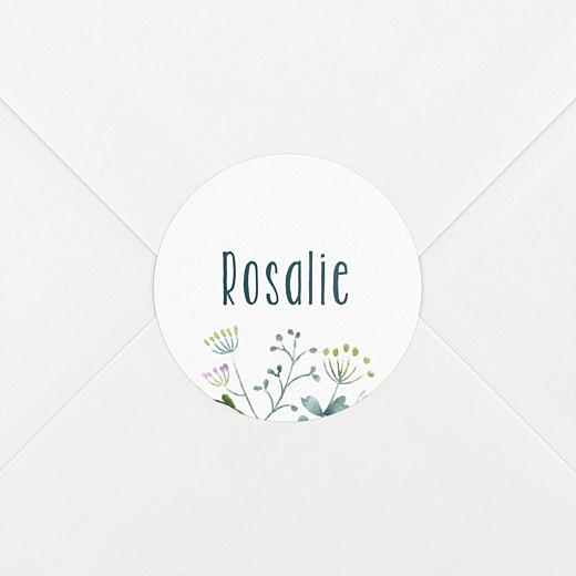Stickers baptême Bouquet sauvage violet - Vue 2