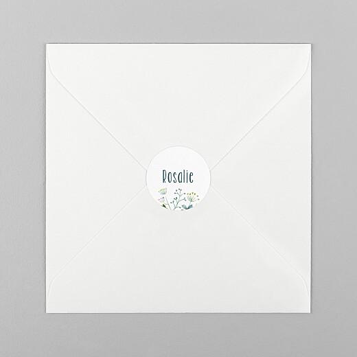 Stickers pour enveloppes baptême Bouquet sauvage bleu - Vue 1