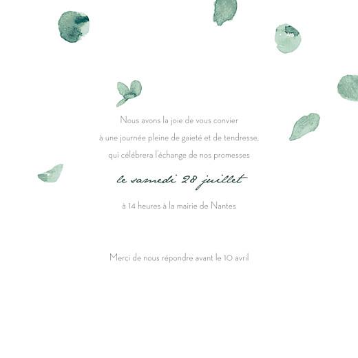 Faire-part de mariage Eucalyptus (4 pages) blanc - Page 3