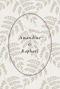 Carton réponse mariage gris joli sous-bois portrait beige