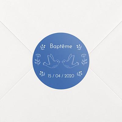 Stickers baptême l'envolée bleu