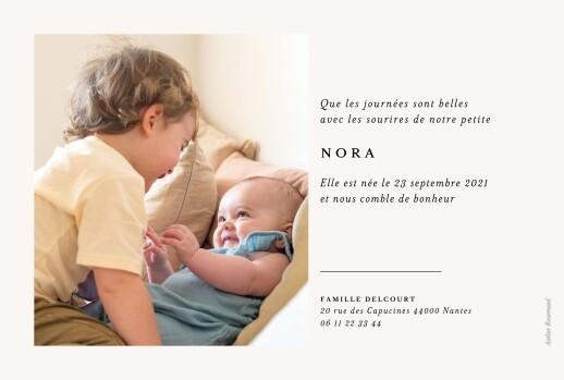 Faire-part de naissance Jeune pousse beige - Page 2
