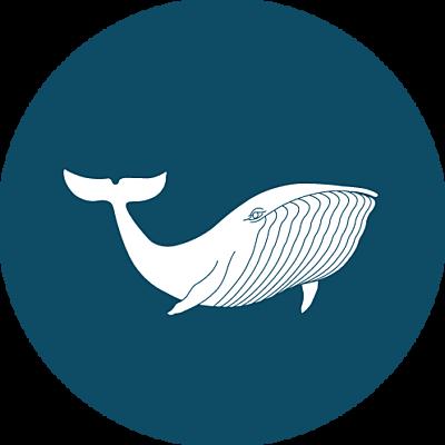 Stickers pour enveloppes naissance Baleine extraordinaire bleu finition