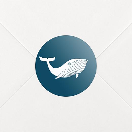 Stickers pour enveloppes naissance Baleine extraordinaire bleu - Vue 2