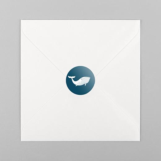 Stickers Naissance Baleine extraordinaire bleu - Vue 1