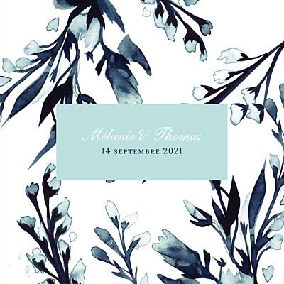 Faire-part de mariage Bleu de minuit (4 pages) bleu finition
