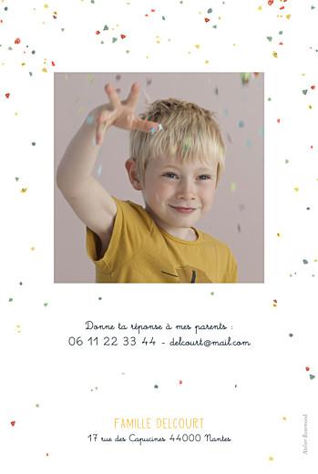 Carte d'anniversaire Petit éléphant jaune - Page 2