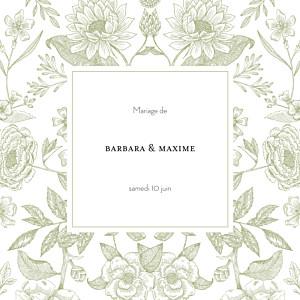 Faire-part de mariage sophie rivière psyché vert