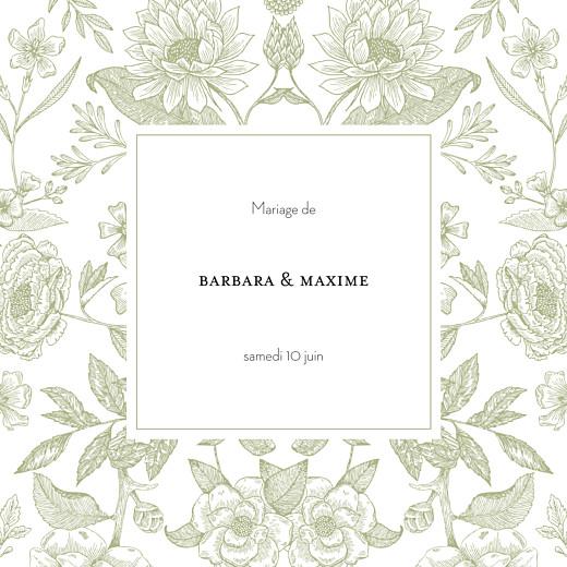 Faire-part de mariage Psyché vert
