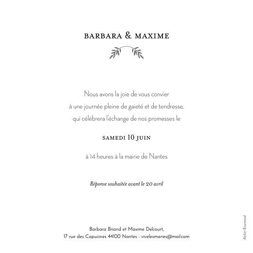 Faire-part de mariage Psyché vert - Page 2