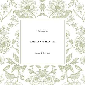 Faire-part de mariage vert psyché (4 pages) vert