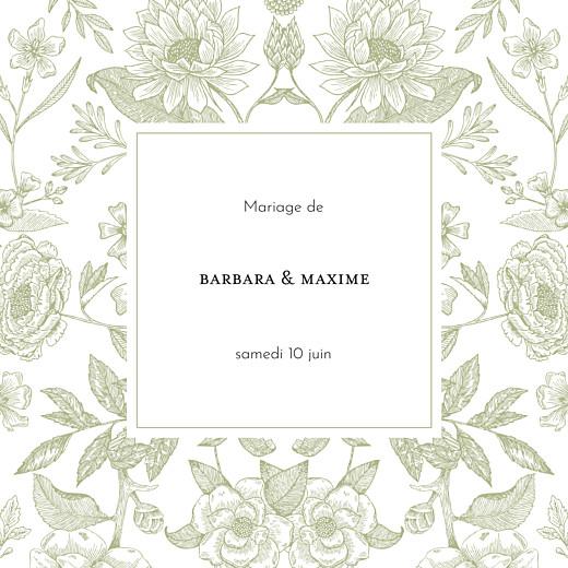 Faire-part de mariage Psyché (4 pages) vert