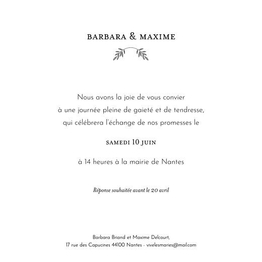 Faire-part de mariage Psyché (4 pages) vert - Page 3