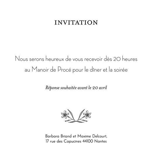 Carton d'invitation mariage Psyché vert - Page 2