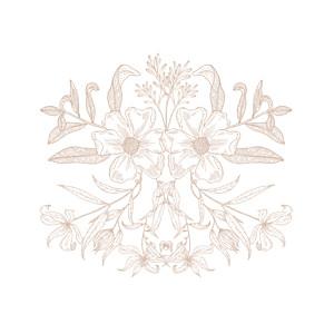 Carton d'invitation mariage blanc psyché rose